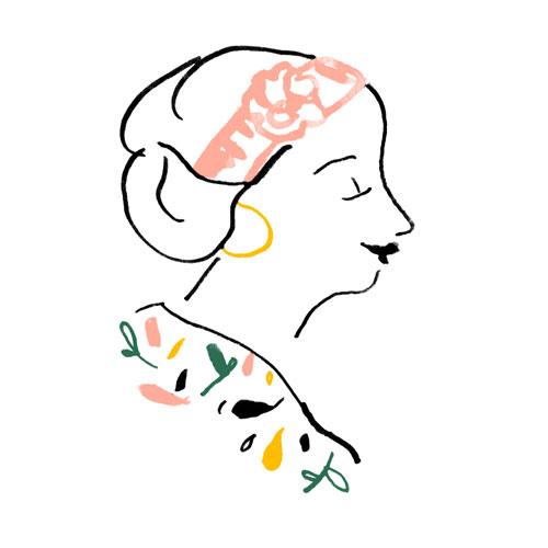modele-fleur_chignon-bas_traits-fins-