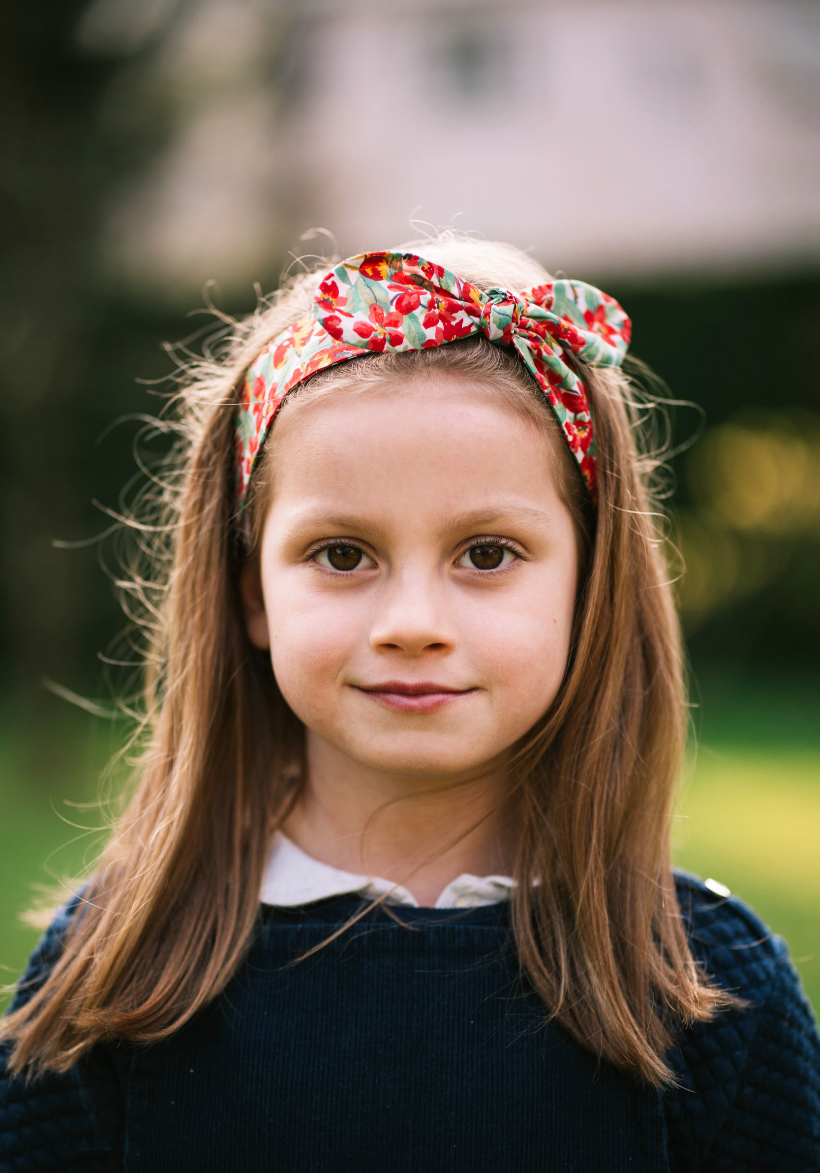 bandeau enfant liberty rouge Poppy